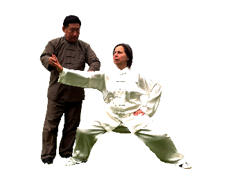 Grandmaster Chen Xiao Wang and Gill Keogh